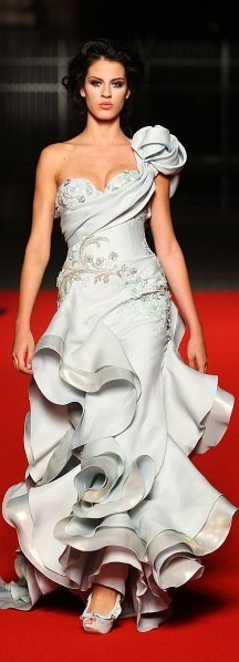 Abed Mahfouz ~ blue wedding dress inspiration