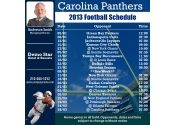 5x5 in One Team Carolina Panthers Football Schedule