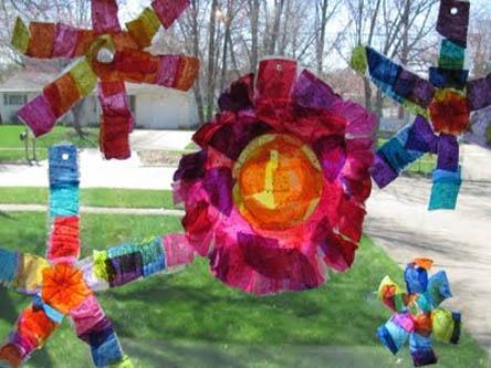 Colorful Sun Catcher Craft image