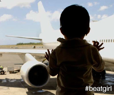 Looking back, though, I don't begrudge Mum for those absences. I now understand what it meant to her. Besides, no matter how far she went, I knew she'd always come back to me. #beatgirl #absense #plane #travel #child