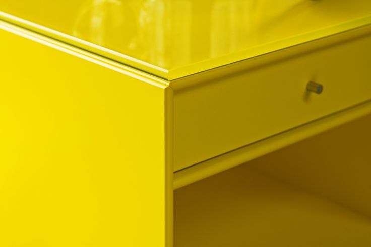 This little nightstand is perfect for your bedroom. Maybe the Easter  bunny will come by with some sweets. #montana #furniture #easter #nightstand #danish #design #yellow #bedroom #interior #inspiration