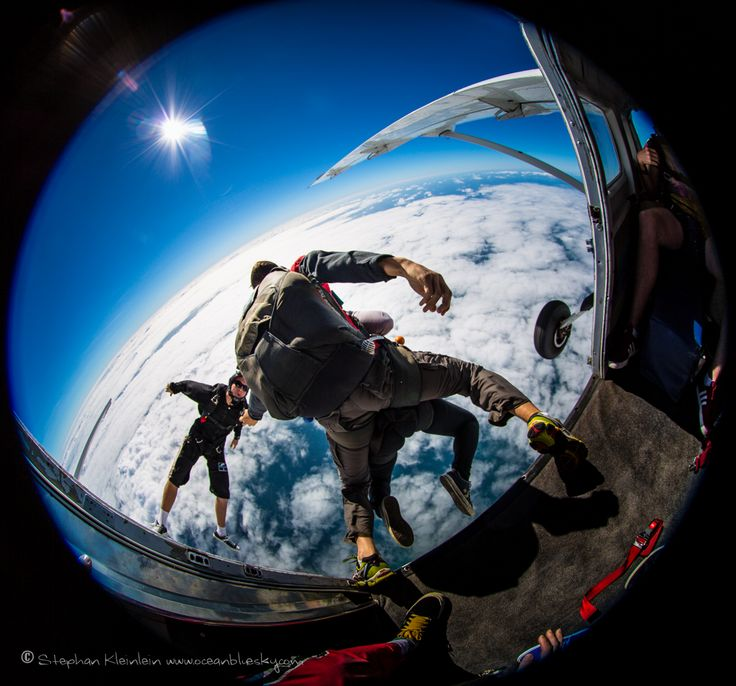 Having a tandem skydiving partner will help you make that courageous leap between plane and sky. There's no backing out now! #SkydiveAustralia #skydive #bucketlist #adrenaline #tandemskydiving