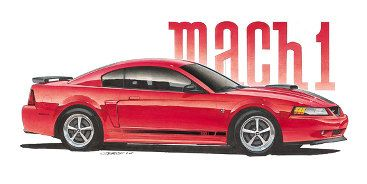 2003 Mustang Mach 1 from Jim Gerdom : AutomotiveArtists.com