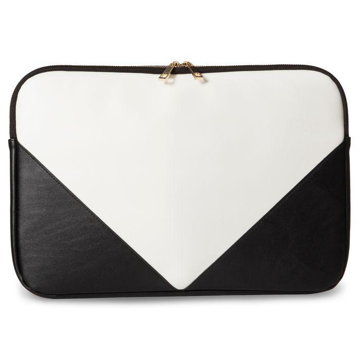 Women's Zip Top Laptop Pouch – Who What Wear Black/White, Size: Small, Gray