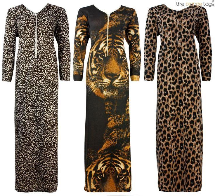 LADIES ANIMAL PRINT LONG COTTON NIGHTIE WOMENS PYJAMA SET PLUS SIZE 16-20 in Clothes, Shoes & Accessories, Women's Clothing, Lingerie & Nightwear | eBay