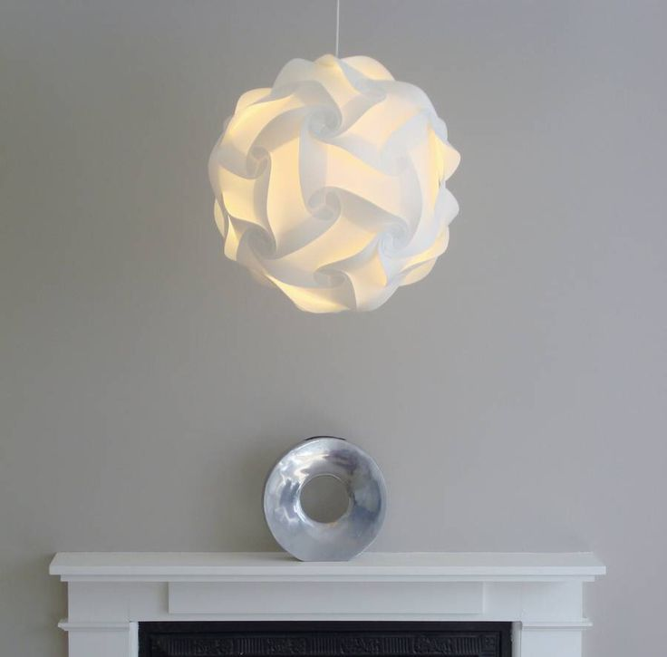 I've just found Smarty Lamps Cosmo Geometric Ball Light Shade. The Cosmo is a round lampshade born of classic Scandinavian design. The globe shape light, inspired by geometry, creates an evenly diffused, ambient glow.. £35.00