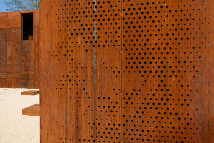 acero corten materiales pinterest fence screening steel panels and facades