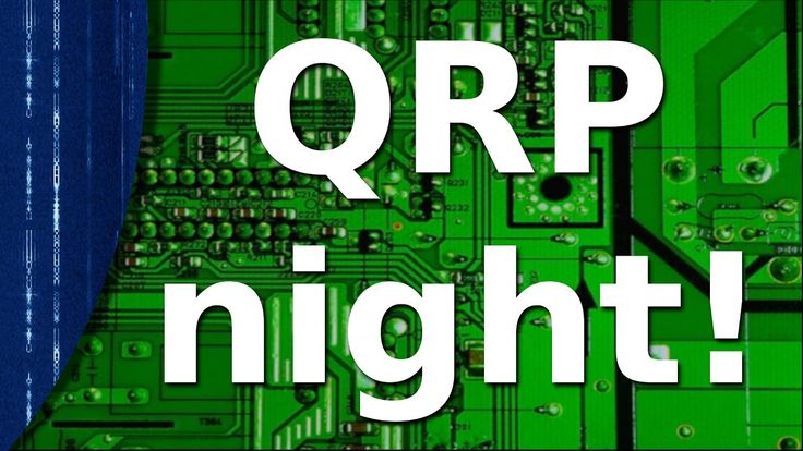 Ham Radio - QRP night,  a field day event.  Well, I think it should be!