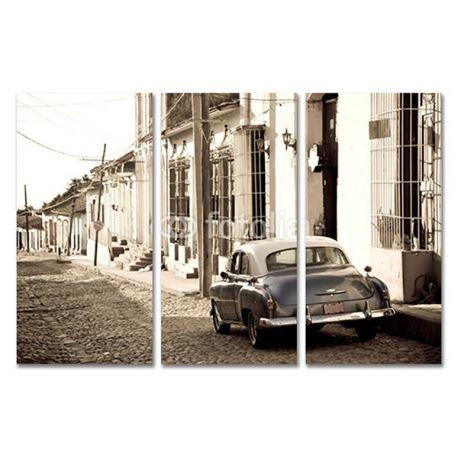 Tryptyk obraz trzyczęściowy na płótnie - Amerykański samochód - w sepii lub czerni i bieli #fedkolor #obrazzezdjęcia #poliptyk #tryptyk #obraznapłótnie #sztuka #art #fotografia #twojezdjęcie #dekoracja #ozdoba #naścianę #dodomu #dopokoju #dosalonu #samochody #samochód #car #sepia