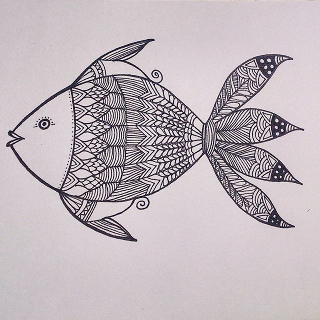 Hand drawn Fish - from 'Patterned animal illustration' series  #art #artwork #illustration #sketch #drawing #pattern #fish #design #handdrawn #penart #lineart #doodle #sketchbook #zentangle #hennadesign #artist #instaartist #creative #handmade #artoftheday #india #animalart #arts_help #artsy #art_spotlight #nature #intricate #arts_gallery #artistsoninstagram #mystaedtler