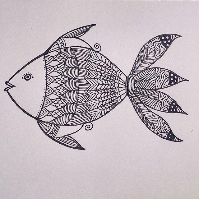 Hand drawn Fish - from 'Patterned animal illustration' series  #art #artwork #illustration #sketch #drawing #pattern #fish #design #handdrawn #penart #lineart #doodle #sketchbook #zentangle #hennadesign #artist #instaartist #creative #handmade #artoftheday #india #animalart #arts_help #artsy #art_spotlight #nature #intricate #arts_gallery #artistsoninstagram #mystaedtler