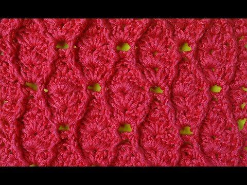 Узор из рельефных столбиков Вязание крючком 67 - YouTube