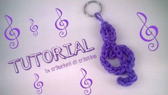 Elastici Rainbow Loom e come si fa una chiave di violino - Video Tutorial