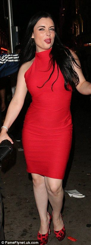 Shona McGarty shows off her slimline frame in a figure-hugging dress, paired with leopard print heels