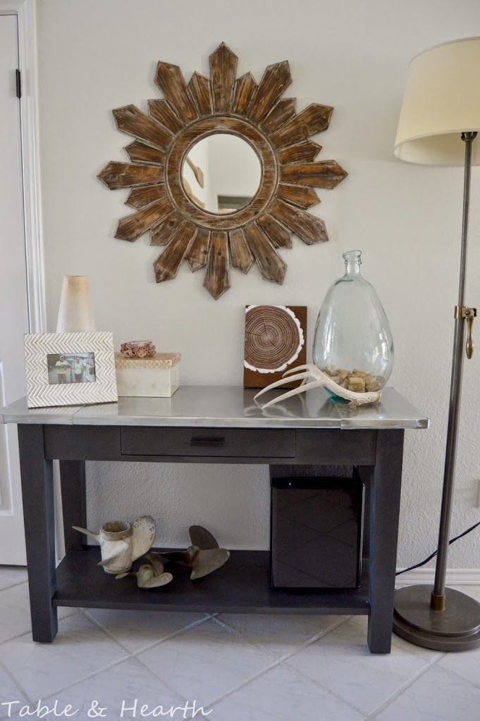 diy metal table top old tablesmetal tablescheap console - Cheap Console Tables