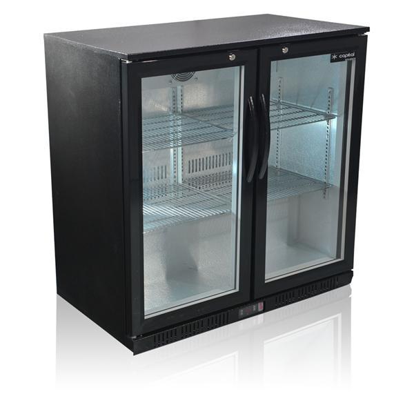 Prem 2 Double Door Back Bar Cooler - Black from Capital Cooling