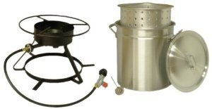 Amazon.com : King Kooker 5012 Portable Propane Outdoor Boiling and Steaming Cooker Package with 50-Quart Aluminum Pot and Steaming Basket : Outdoor Turkey Fryers & Cookers : Patio, Lawn & Garden