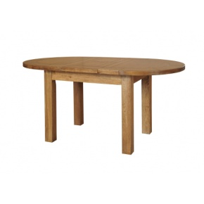 Rustic Solid Oak SRDT01 D-End Extendable Dinging Table 1315mm  www.easyfurn.co.uk