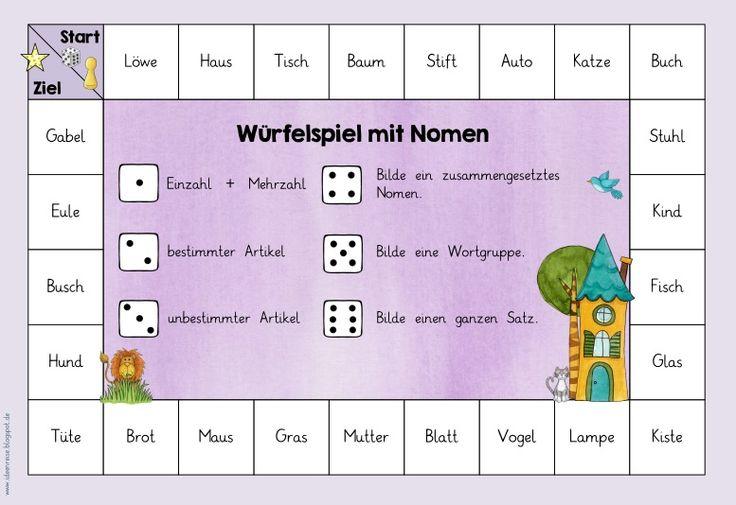 Drei Würfelspiele zu Nomen, Verben und Adjektiven In Kooperation mit JacMo sind drei neue Würfelspiele für den Bereich Deutsch entstanden....