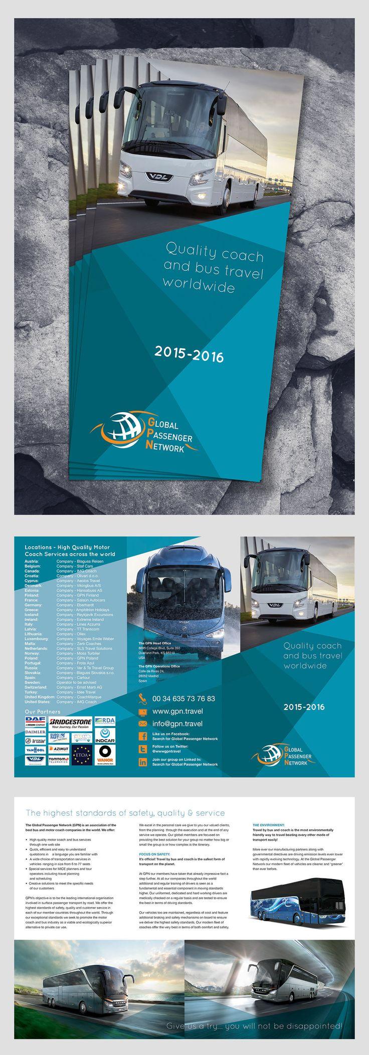Global Passenger Network, 6pp, 1/3 A4 Leaflet