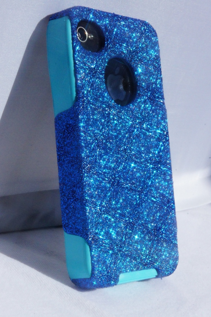 Custom Glitter Case Otterbox for iPhone 4/4S Marine Blue/Teal  1WinR on Etsy