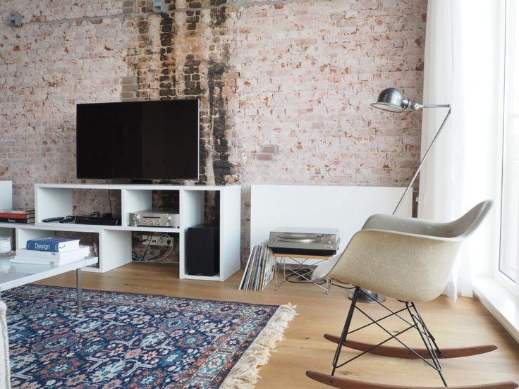 Loft rotterdam brickwall hielde lamp dames rocker chair