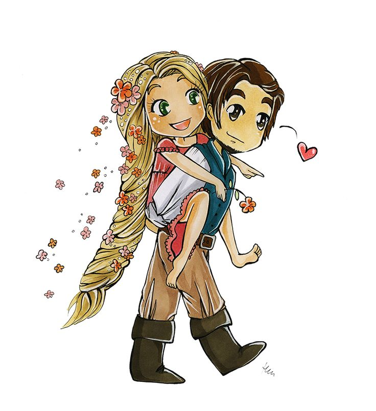 Rapunzel and Eugene by tooliepanna on deviantART