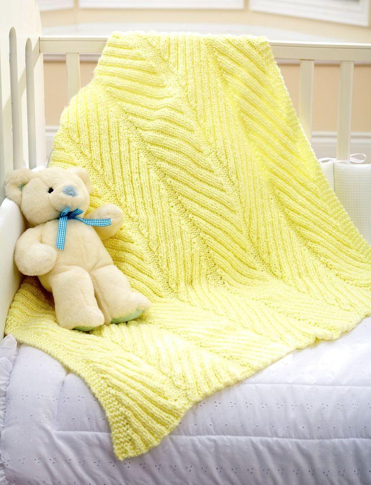 Yarnspirations.com - Bernat Diagonal Rib Blanket - Patterns  | Yarnspirations