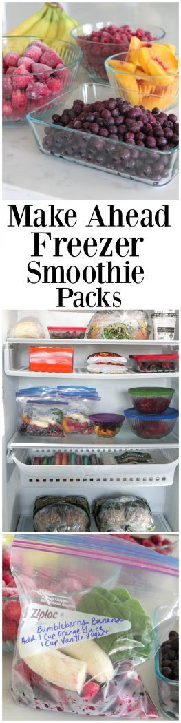 Make Ahead Freezer Smoothie Packs, perfect for busy back to school mornings!  #sponsored