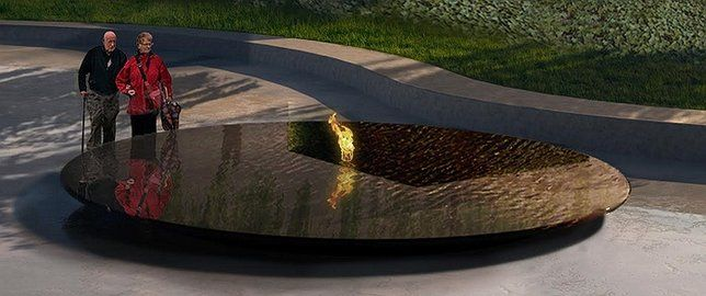 The New Nassau Coliseum, which is set to open with Billy Joel's concert on April 5th, 2017, will include a veterans memorial to honor all Long Islanders that have served. The 19.5' x 12.5' memorial will be located in the front entrance's plaza and will feature an elegant granite structure with flowing water and an eternal flame. See below for public statements and additional information on the memorial.
