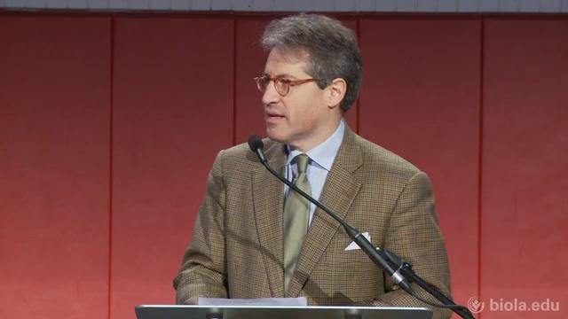 Biographer Eric Metaxas speaks at chapel on Friday, February 4, 2011.