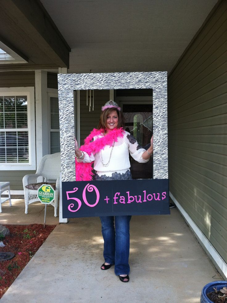 Fun 50th Birthday photo prop for 50 & Fabulous Party!