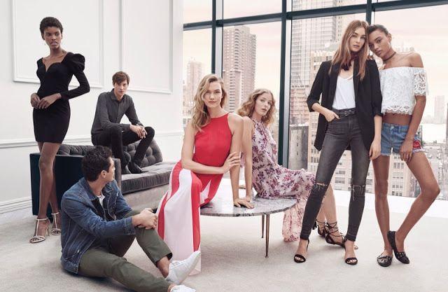 Fantasy Fashion Design: Karlie Kloss viste diferentes estilismos en la campaña de Express primavera 2017