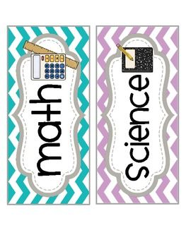 More chevron stuff for Emily  Subject Labels FREE!!