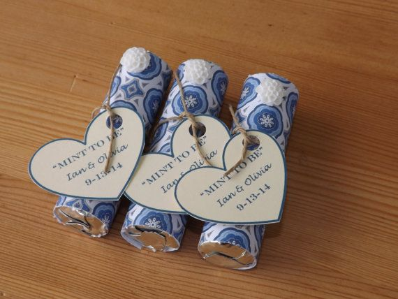 Mint to be Favors Wedding Bridal Shower door JirehCraftyCreations
