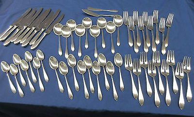 Mothers (OLD) BY GORHAM STERLING SILVER FLATWARE 54 PIECE Set Circa 1875