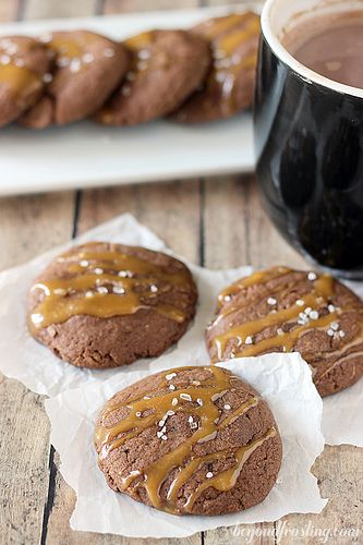 Salted Caramel Hot Chocolate Cookie