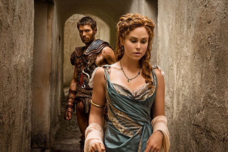 Spartacus [Liam McIntyre] - Laeta [Anna Hutchison]