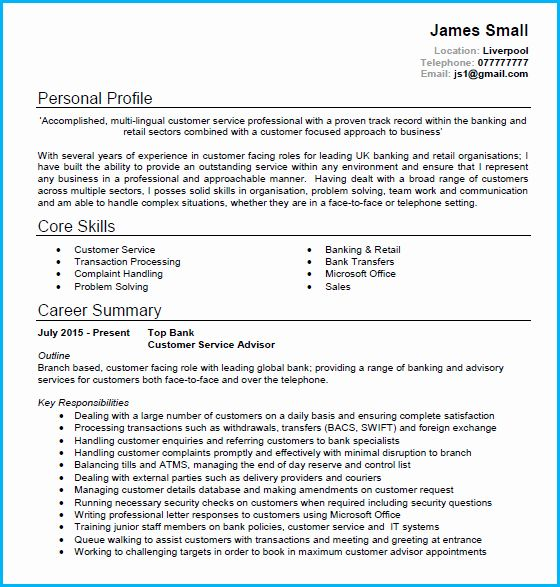 Pin On Best Resume 2020 Personal Statement Customer Service Manager
