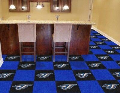 Toronto Blue Jays 20 Pk Area/Sports/Game Room Carpet/Rug Tiles