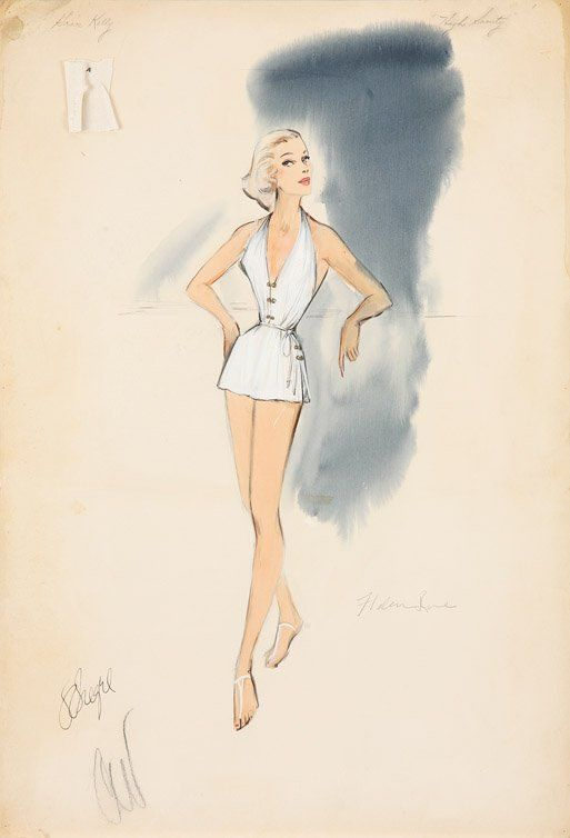 187 best images about edith head sketches on pinterest high society carolyn jones and. Black Bedroom Furniture Sets. Home Design Ideas