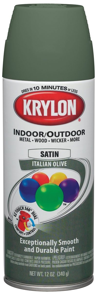 Krylon Indoor/Outdoor Satin Enamel Aerosol Spray Paint from Darice at The Country Porch