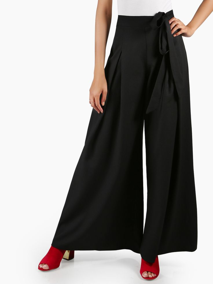 Shop Self Tie Wide Leg Palazzo Pants online. SheIn offers Self Tie Wide Leg Palazzo Pants & more to fit your fashionable needs.