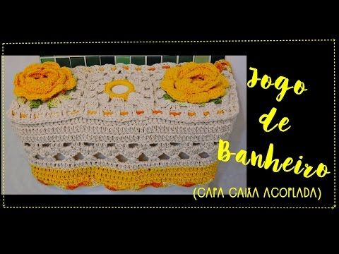 JOGO DE BANHEIRO AMARELO -CAPA CAIXA ACOPLADA - YouTube