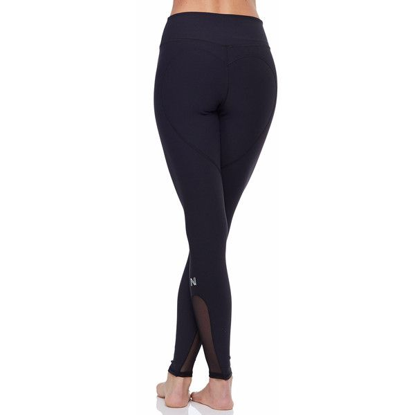 Nina.B.Roze Heart Butt Legging™ ($128) ❤ liked on Polyvore featuring pants, leggings, activewear, blue trousers, heart pants, blue leggings, heart leggings and legging pants