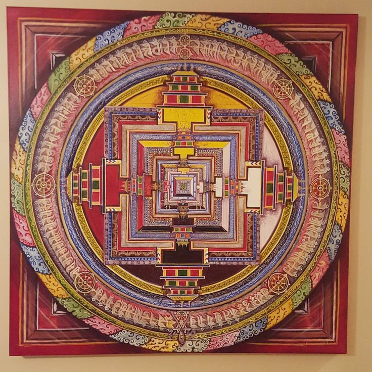 """2009 ... Kalachakra  48"""" x 48"""" oils ... (70% complete)    Some pieces are further along than others."""