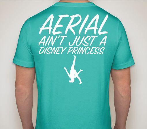 Aerial ain't just a Disney Princess! - Gymnastics tee! I want this!!!