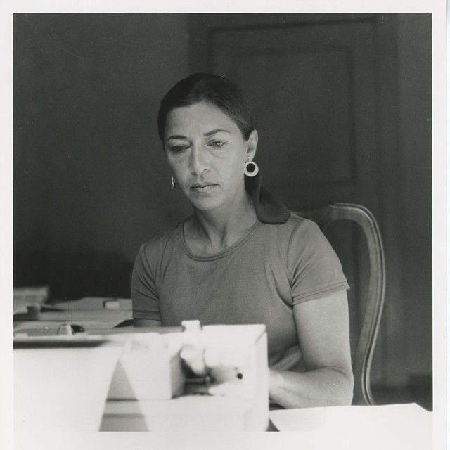 Ruth Bader Ginsburg writing in Bellagio, Italy, in the summer of 1977