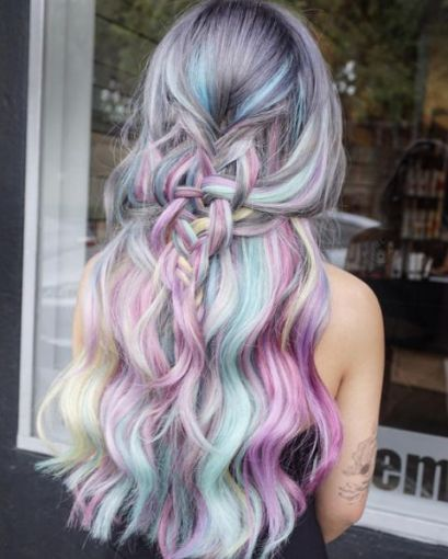 94 Awesome Pastel Hair Color Ideas for Coolest Pastel Hair Colors that Brighten Your Look, Inspiring Pastel Hair Color Ideas Bold Hair Simple, 28 Rainbow Hair Colors Ideas Page 13 Of 28 Ninja Cosmico, 21 Pastel Hair Ideas You Ll Love Прически. Pretty Hairstyles, Braided Hairstyles, Latest Hairstyles, Hairstyle Ideas, Hairstyles Haircuts, Coloured Hair, Grunge Hair, Mermaid Hair, Cool Hair Color