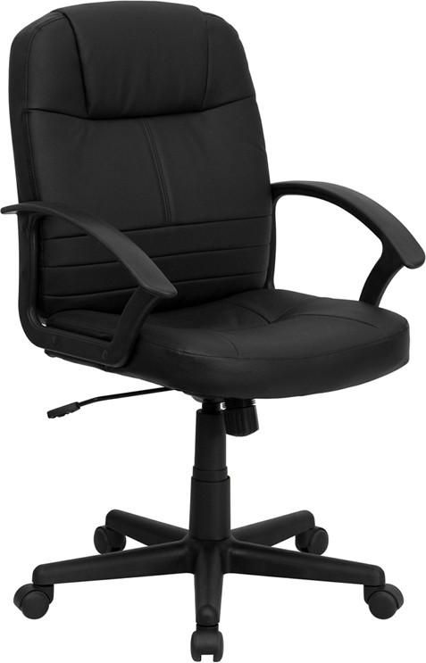 $109.00 Flash Furniture Mid-Back Black Leather Executive Swivel Office Chair
